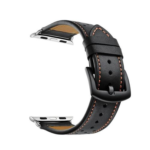 TECH-PROTECT opaska pasek bransoleta LEATHER APPLE WATCH (42MM) 1/2/3 BLACK