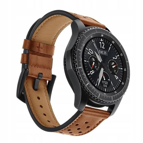 TECH-PROTECT opaska pasek bransoleta LEATHER SAMSUNG GEAR S3 BROWN