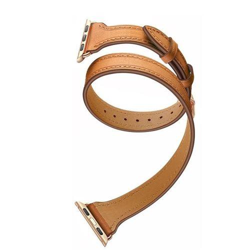 TECH-PROTECT opaska pasek bransoleta LONGCHARM APPLE WATCH 1/2/3 (42MM) BROWN/GOLD