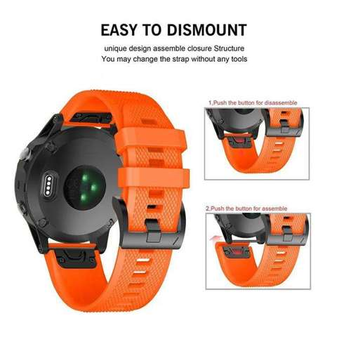 TECH-PROTECT opaska pasek bransoleta SMOOTH GARMIN FENIX 3/5X/3HR/5X PLUS/6X/6X PRO ORANGE