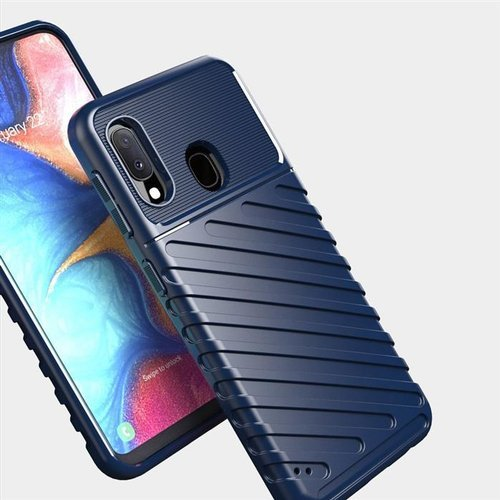 Thunder Case elastyczne pancerne etui pokrowiec Samsung Galaxy A20e niebieski