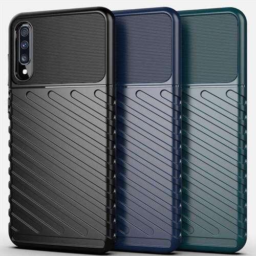 Thunder Case elastyczne pancerne etui pokrowiec Samsung Galaxy A40 niebieski