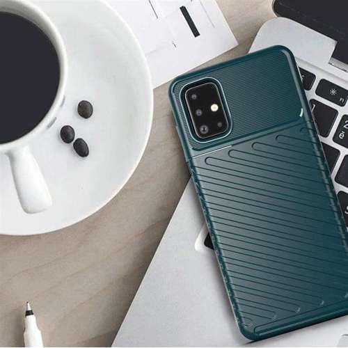Thunder Case elastyczne pancerne etui pokrowiec Samsung Galaxy A51 niebieski