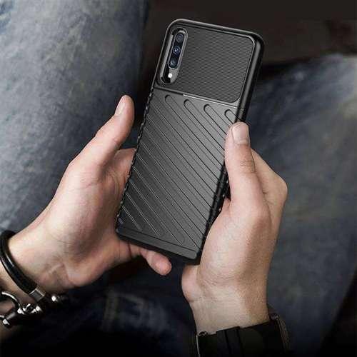 Thunder Case elastyczne pancerne etui pokrowiec Samsung Galaxy A70 niebieski
