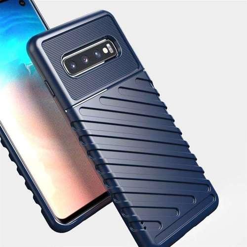 Thunder Case elastyczne pancerne etui pokrowiec Samsung Galaxy S10 zielony