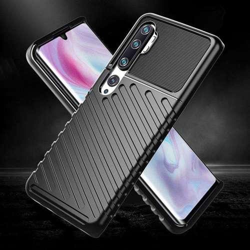 Thunder Case elastyczne pancerne etui pokrowiec Xiaomi Mi Note 10 / Mi Note 10 Pro / Mi CC9 Pro czarny
