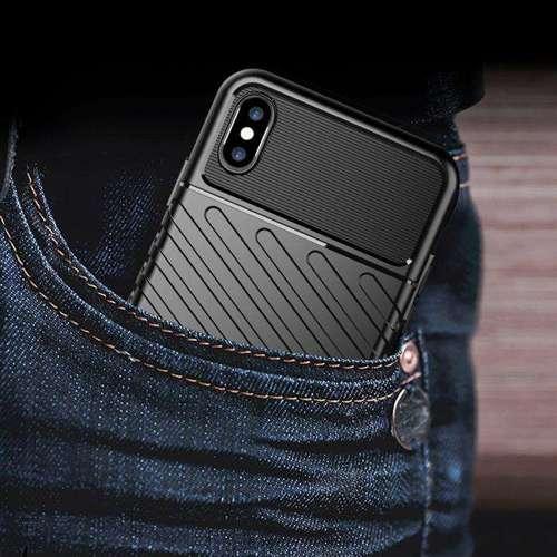 Thunder Case elastyczne pancerne etui pokrowiec iPhone XS Max niebieski