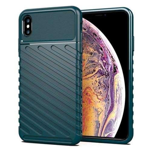 Thunder Case elastyczne pancerne etui pokrowiec iPhone XS Max zielony
