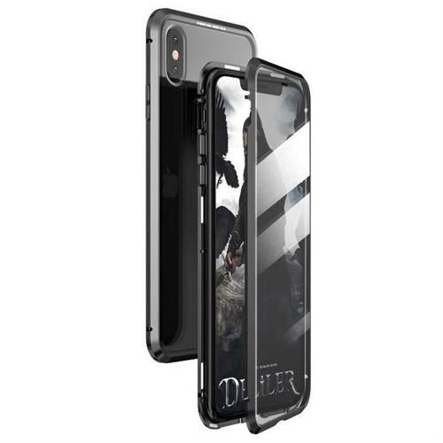 Wozinsky Full Magnetic Case magnetyczne etui 360 pokrowiec na przód i tył z wbudowanym szkłem Xiaomi Redmi Note 8T czarno-przezroczysty