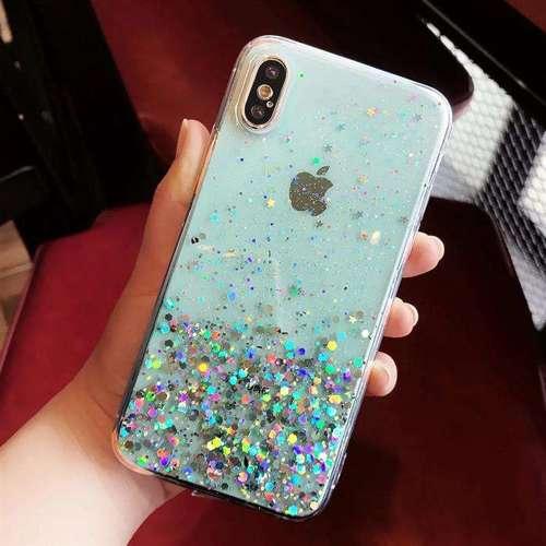 Wozinsky Star Glitter błyszczące etui pokrowiec z brokatem iPhone 8 Plus / iPhone 7 Plus zielony