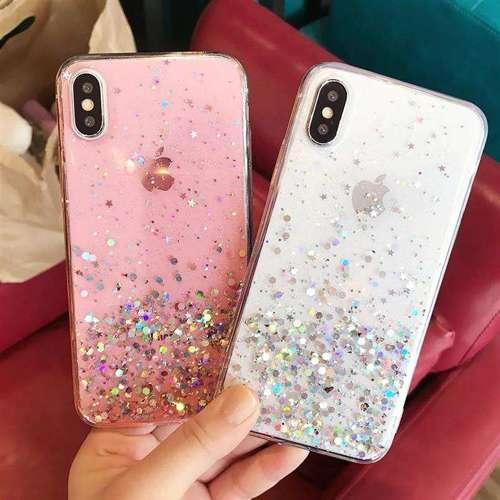 Wozinsky Star Glitter błyszczące etui pokrowiec z brokatem iPhone XS / iPhone X czarny