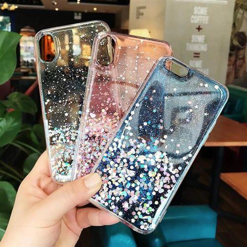 Wozinsky Star Glitter błyszczące etui pokrowiec z brokatem iPhone XS / iPhone X różowy