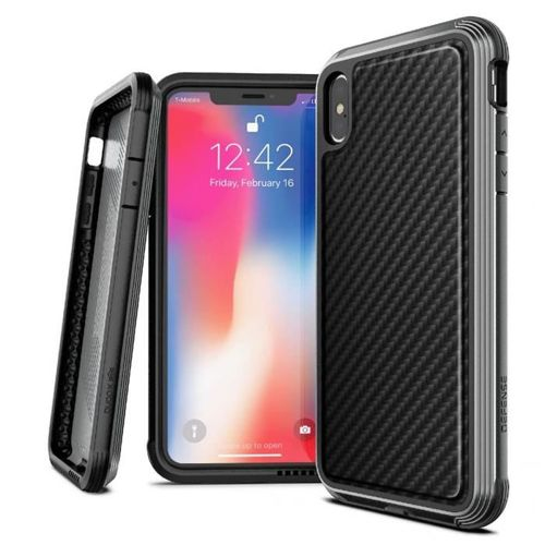 X-DORIA DEFENSE LUX IPHONE XS MAX BLACK CARBON