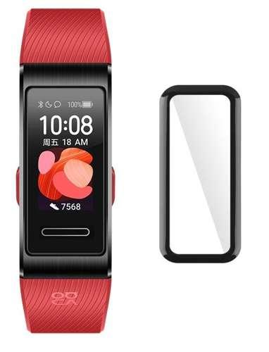 ZESTAW 2X Szkło hybrodowe FULL GLUE 5D Huawei Band 4 czarny