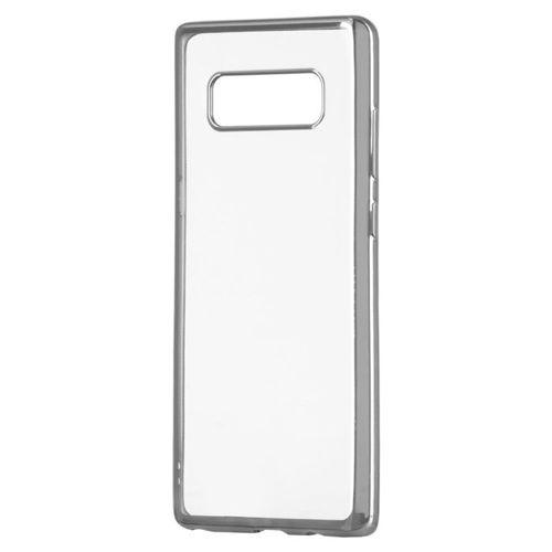 Żelowy pokrowiec etui Metalic Slim Huawei P20 Lite srebrny