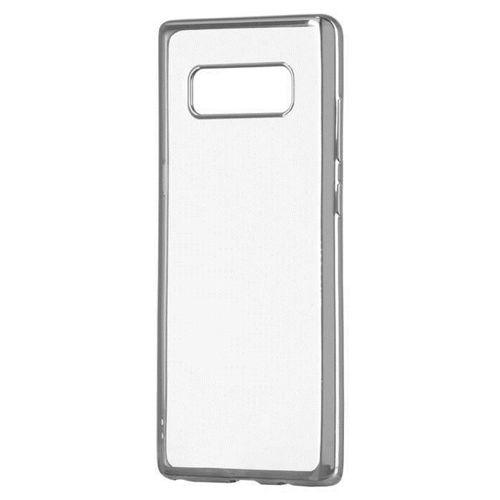 Żelowy pokrowiec etui Metalic Slim LG K10 2018 / K11 srebrny
