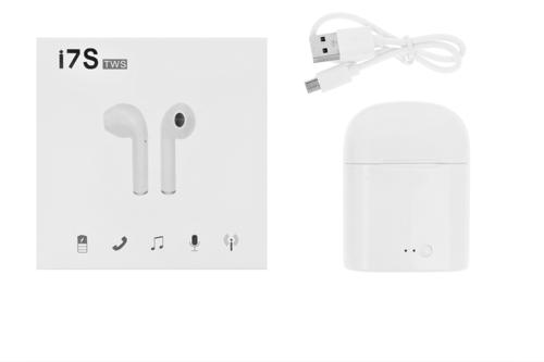 Zestaw słuchawkowy bezprzewodowy słuchawki Bluetooth 4.2 I7s  TWS czarne