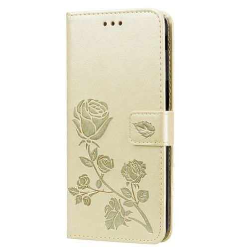 etui Wallet Leather Samsung Galaxy J6+ J6 PLUS złote
