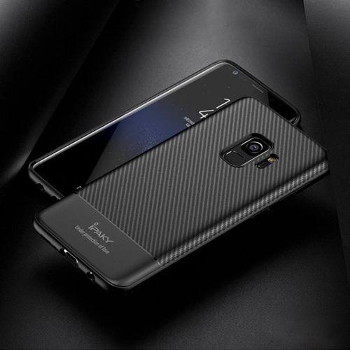 iPaky Carbon Fiber elastyczne etui pokrowiec Samsung Galaxy S9 Plus G965 niebieski