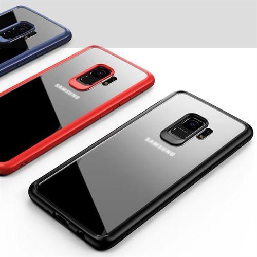 iPaky Frame elastyczne żelowe etui z ramką Samsung Galaxy S9 Plus G965 niebieski