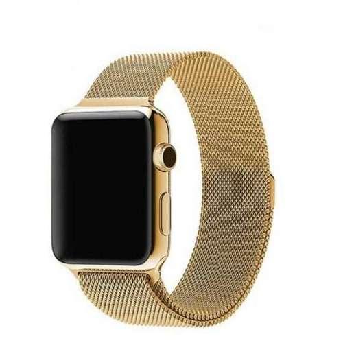 opaska pasek bransoleta MILANESEBAND Apple Watch 1/2/3/4/5/6/SE 38/40mm złoty
