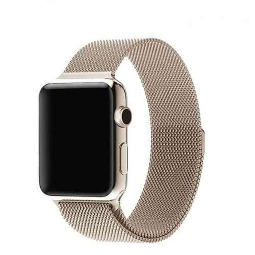 opaska pasek bransoleta MILANESEBAND Apple Watch 1/2/3/4/5/6/SE 42/44mm CHAMPAGNE GOLD