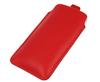 Pionowa skórzana wsuwka Vena SAMSUNG I9100 czerwona